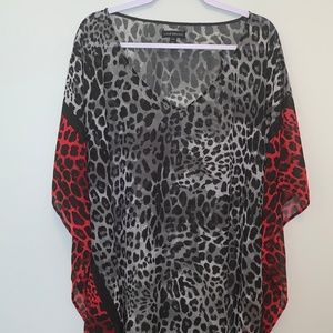Lane Bryant Sheer Leopard Print size 26/28